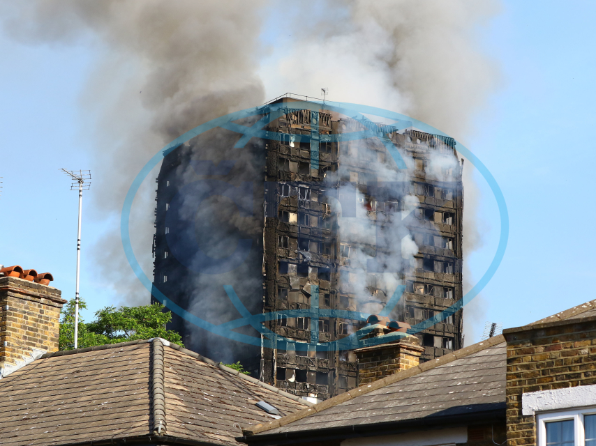 Tower block fire in London,Grenfell Tower, požár