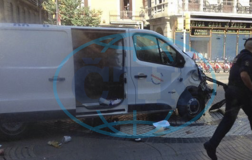Police identify suspect who rented van (picture 002) used in Barcelona terror attack as Driss Oukabi (picture 001)