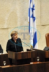 Angela Merkel - Politician,  CDU,  Chancellor of Germany - addressing the Knesset in Jerusalem during her official visit to Israel - 18.03.2008