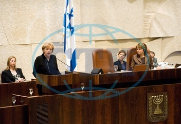 Angela Merkel - Politician,  CDU,  Chancellor of Germany - visiting Israel - speaking to the Knesset - 18.03.2008  For-commercial-use-please-contact-ullstein-bild!