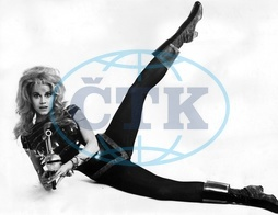 Jane Fonda *21.12.1937- actress,  USA in the movie _Barbarella_ Director: Roger Vadim - 1967