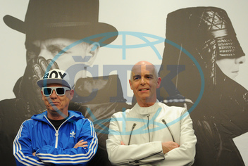 Pet Shop Boys give press conference in Moscow