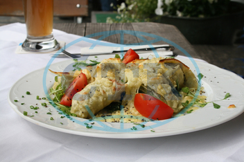 Swabian dish made of paste,  filled with meat and herbs