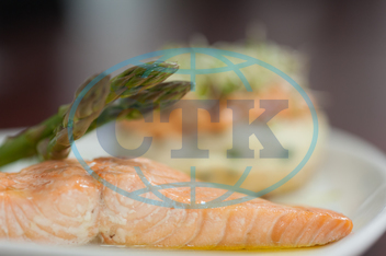 Indoors, Restaurant, Catering, Cuisine, Culinary, Dinner, Dish, Food, Fresh, Hotel, Ingredient, Lunch, Meal, Plate, Salmon, Fish, Asparagus, Healthy, Hot, Tasty, Gourmet