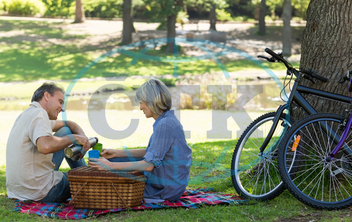 50s, Mature Adult, Woman, Female, Caucasian, Man, Male, Outdoors, Togetherness, Couple, Relationship, Together, Park, Countryside, Parkland, Leisure, Spare Time, Free Time, Time Off, Lifestyle, Summer, Adult, Casuals, Love,