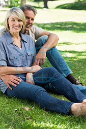 50s, Mature Adult, Woman, Female, Caucasian, Man, Male, Outdoors, Looking At Camera, Togetherness, Couple, Relationship, Together, Park, Countryside, Parkland, Leisure, Spare Time, Free Time, Time Off, Lifestyle, Summer, A