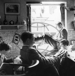 Pupils in study room,  Marlborough College
