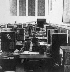 Pupil in library,  Marlborough College