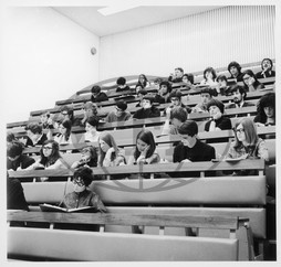 Students in lecture theatre,  Warwick University,  Coventry