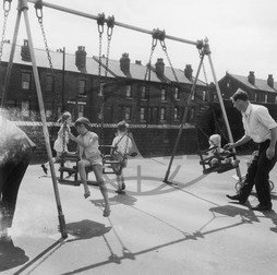 Children on swings,  Sheffield