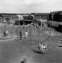 Children in Sheffield playground