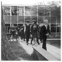 Pupils coming out of Holmshill Middle School