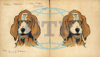 Twin puppies,  inside cover