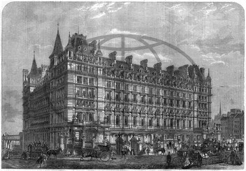 Charing Cross station and hotel,  Central London