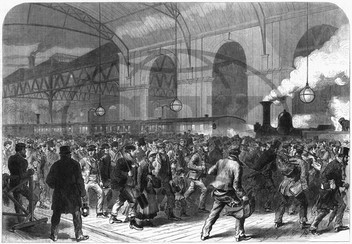 Penny train arriving,  Victoria Station,  Central London