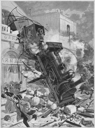 Train crash,  Montparnasse,  France