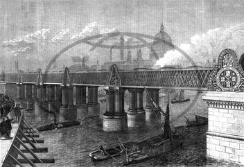 Blackfriars railway bridge,  City of London