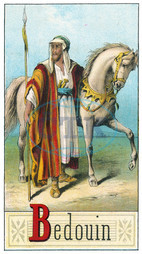 Bedouin Arab with horse