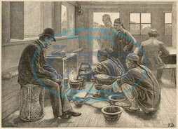Boiling and testing opium,  China
