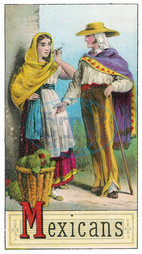 Mexican couple in traditional costume