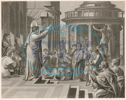 St Paul preaching at Athens
