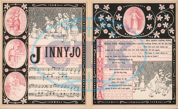 Music sheet for song and game Jinny Jo