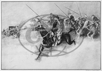 British cavalry in action during WWI