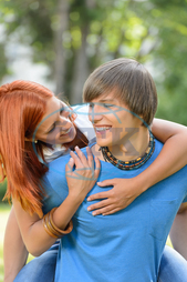 boy, boyfriend, carrying, caucasian, cheerful, couple, date, dating, embracing, enjoying, free-time, fun, girl, girlfriend, happy, hugging, laughing, love, lovers, loving, man, nature, outdoors, outside, park, people, piggy-ba