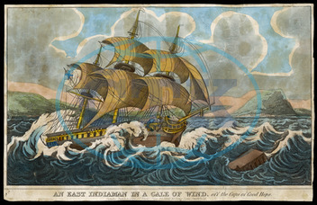 EAST INDIAMAN IN GALE