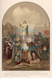 JOAN OF ARC BURNED