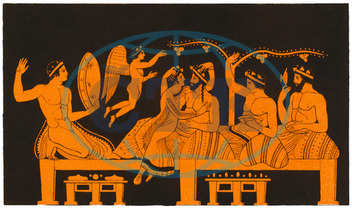 GREEK BANQUET,  COURTESAN
