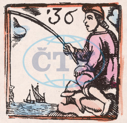 C17 FISHING/WOODCUT/36