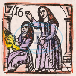 C17 LACE MAKING/WOODCUT