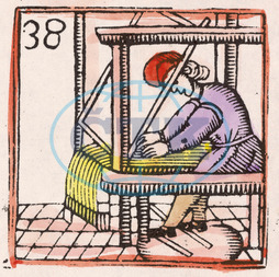 C17 LOOM/WOODCUT/COLOUR