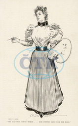 GIBSON GIRL PAINTING