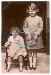Queen Elizabeth II as a child with Princess Margaret