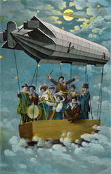 MUSICIANS IN AIRSHIP