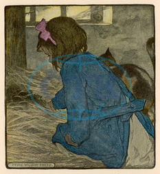GIRL FINDS KITTENS 1905