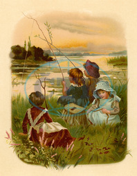 CHILDREN FISHING 1889