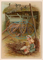 CHILDREN & SWALLOWS 1891