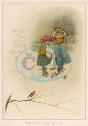 GIRLS FEED ROBINS C1885