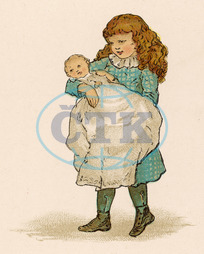 ANGELINA HOLDS BABY 1870
