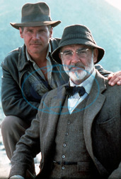 INDIANA JONES AND THE LAST CRUSADE HARRISON FORD,  SEAN CONNERY