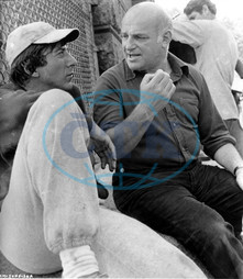 MARATHON MAN DIRECTOR JOHN SCHLESINGER ON LOCATION IN NEW YORK WITH DUSTIN HOFFMAN A PARAMOUNT PICTURE