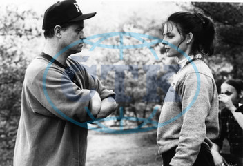 SILENCE OF THE LAMBS DIRECTOR JONATHAN DEMME WITH JODIE FOSTER AN ORION RLEASE