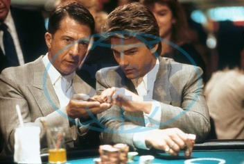 RAIN MAN DUSTIN HOFFMAN,  TOM CRUISE