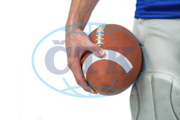 20s, Young Adult, Man, Male, Caucasian, White Background, Isolated, Football Player, American Football - Sport, American Football Player, Sport, Competitive Sport, Sports Uniform, Competition, Sports Clothing, Holdi