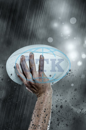 20s, Young Adult, Man, Male, Caucasian, Rain, Weather, Hail, Storm, Winter, Cold, Falling, Raining, Football Player, American Football - Sport, American Football Player, Quarterback, Sport, Competitive Sport, Competitio