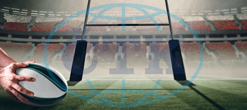 20s, Young Adult, Man, Male, Caucasian, Rugby, Sport, Event, World, Cup, Pitch, Leisure, Digital, Digitally Generated, Computer Graphic, Goal, Goalpost, Stadium,  Posts, Football Player, American Football - Sport, America