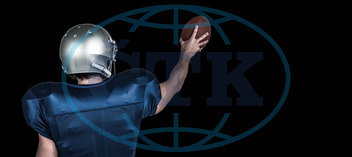 20s, Young Adult, Man, Male, Caucasian, Black, Football Player, American Football - Sport, American Football Player, Quarterback, Sport, Competitive Sport, Blue, Sports Uniform, Competition, Sports Clothing, Attentiv